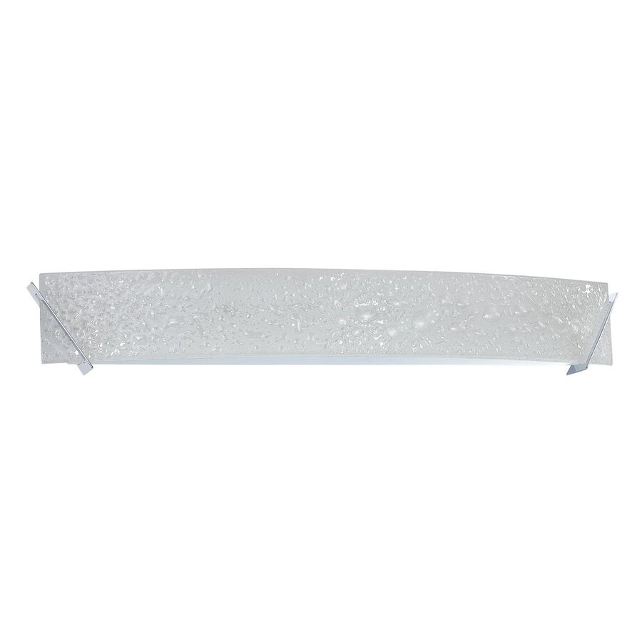 Kendal Lighting Michaela 1-Light Chrome Rectangle Vanity Light Bar