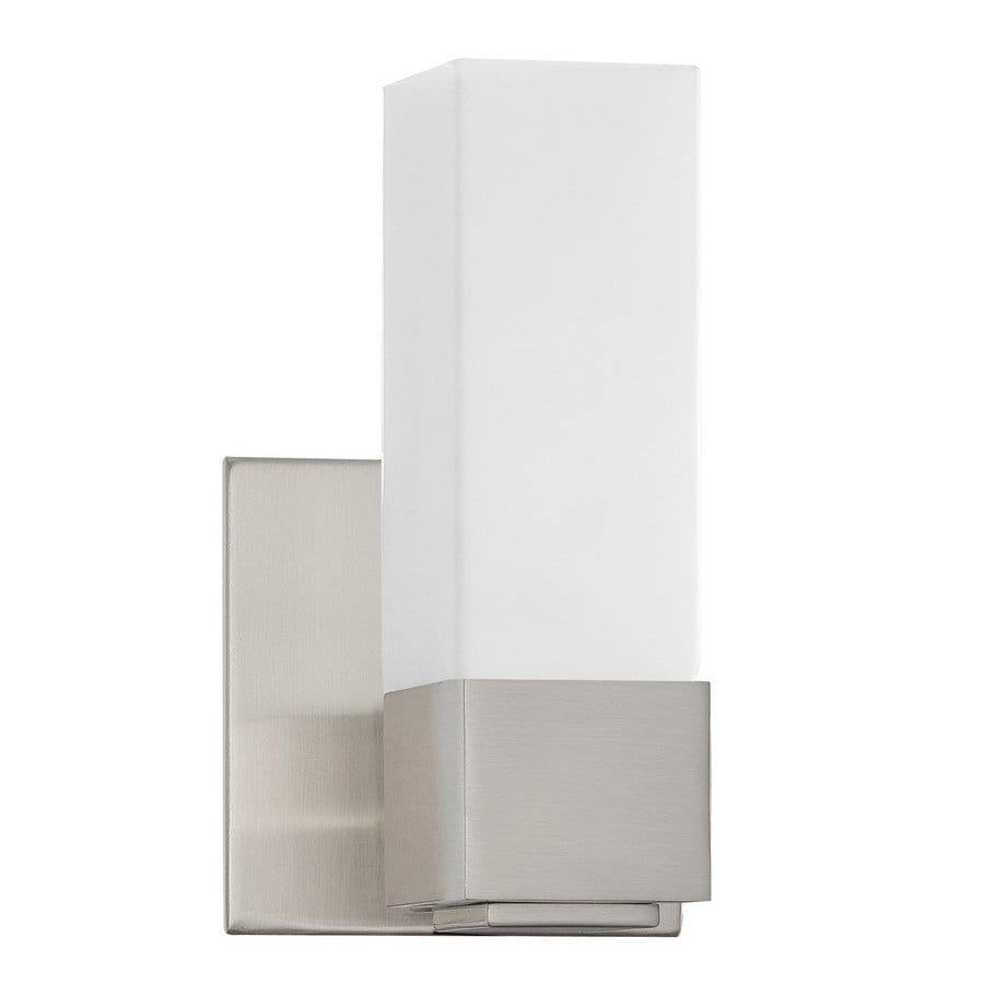 Kendal Lighting Madison 1-Light Satin Nickel Rectangle Vanity Light