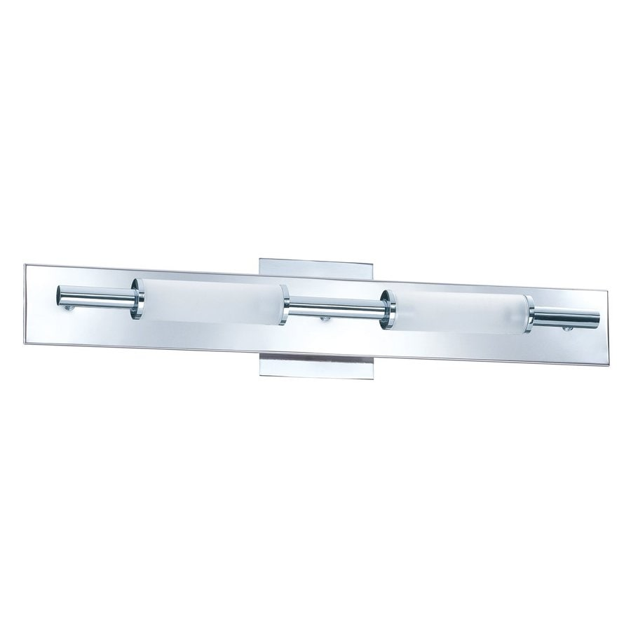 shop kendal lighting 2 light tubo chrome bathroom vanity light at