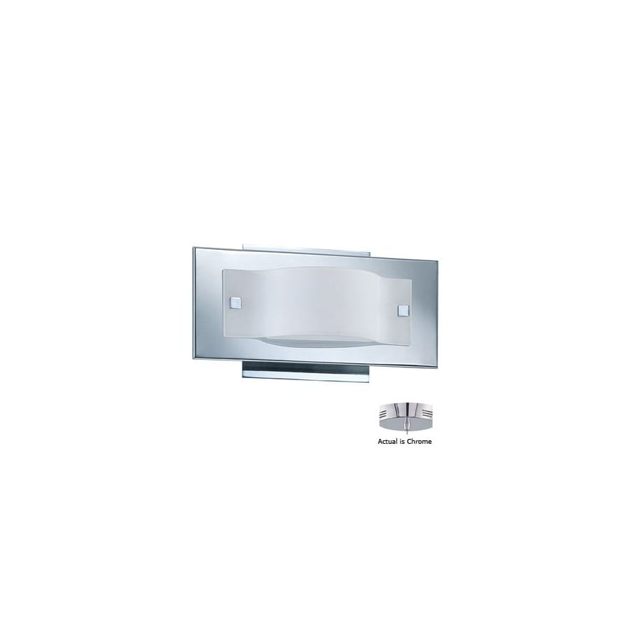 shop kendal lighting mini wave chrome bathroom vanity light at lowes com