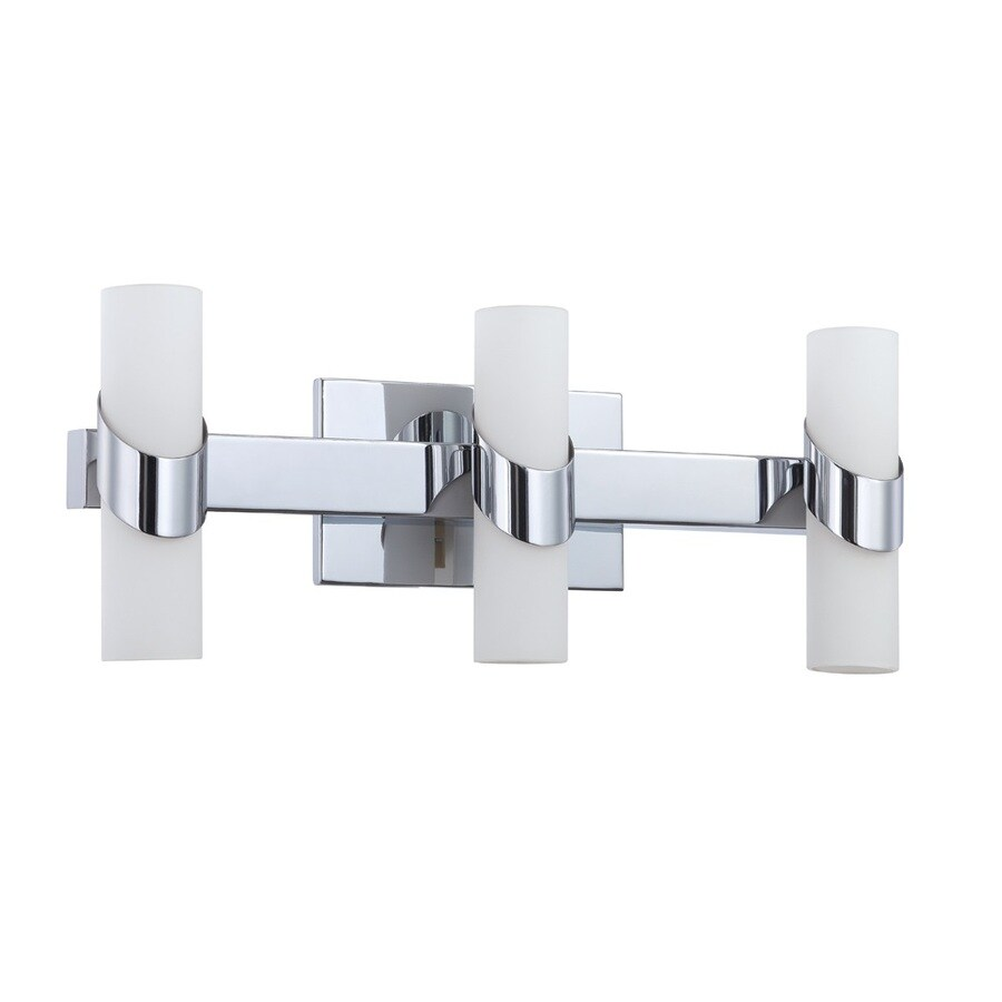 Kendal Lighting Candela 3-Light Chrome Cylinder Vanity Light