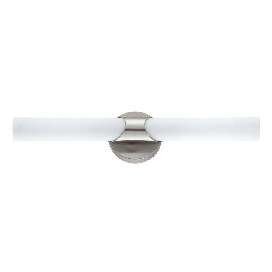 Kendal Lighting Alina 2-Light Satin Nickel Cylinder Vanity Light
