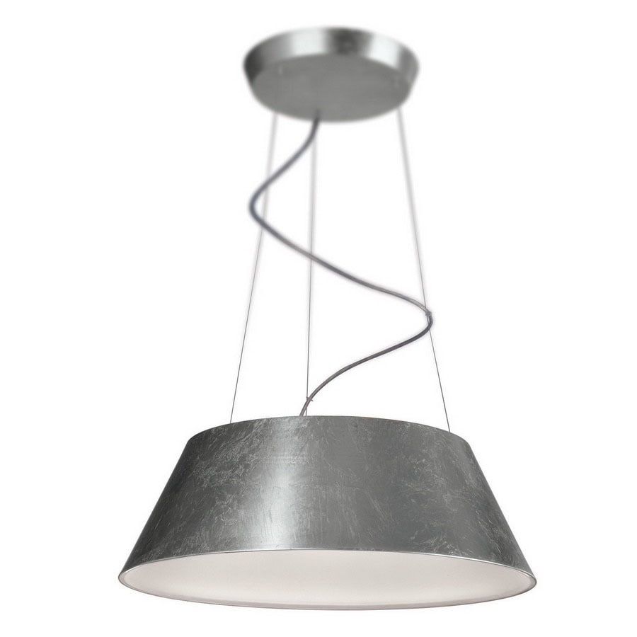 Philips Ledino 23.34-in W Silver Leaf LED Pendant Light with Shade ENERGY STAR