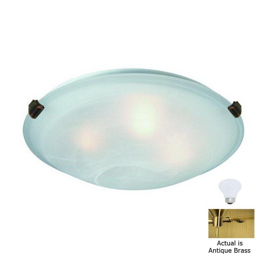 Artcraft Lighting 16-in W Antique Brass Flush Mount Light