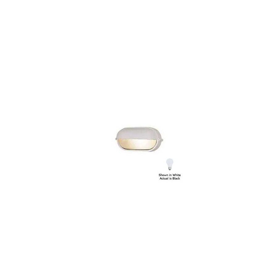 International Lighting 4-1/4-in Black Outdoor Wall Light