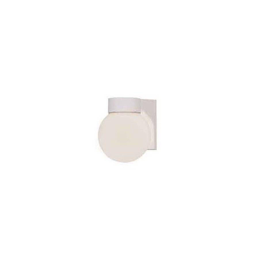 International Lighting 7-in White Outdoor Wall Light