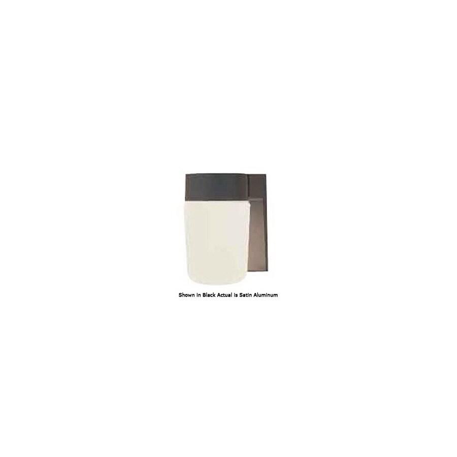 International Lighting 6-3/4-in Satin Aluminum Outdoor Wall Light
