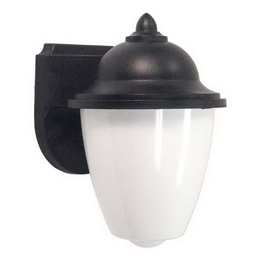 International Lighting 9-in Black Outdoor Wall Light ENERGY STAR