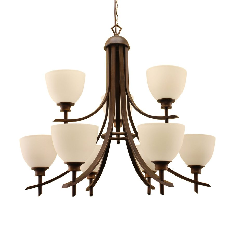 Whitfield Lighting Kelsey 31-in 9-Light Oil-Rubbed bronze Tiered Chandelier