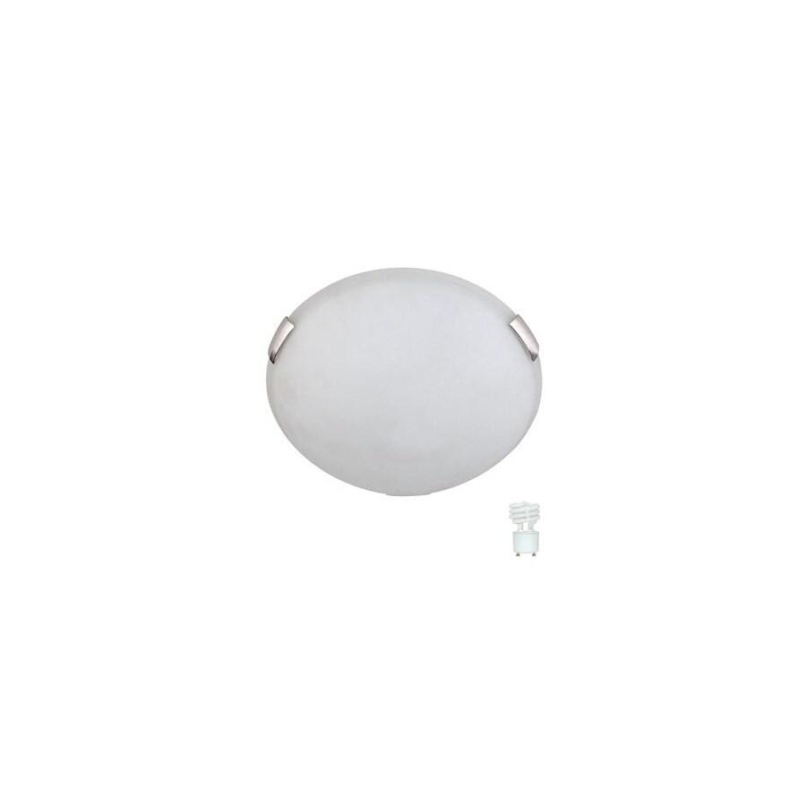 Whitfield Lighting 12-in W Satin Steel Ceiling Flush Mount