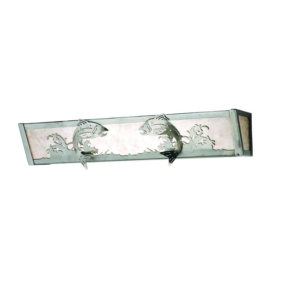 Tiffany Bathroom Lighting: Shop Meyda Tiffany Leaping Trout Steel Bathroom Vanity