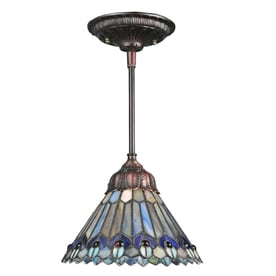 Meyda Tiffany Jeweled Peacock 8-in Mahogany Bronze Tiffany-Style Hardwired Mini Stained Glass  sc 1 st  Loweu0027s : small pendant lights - azcodes.com