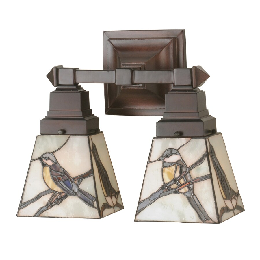 best cheap 920ed d931b Meyda Tiffany 2-Light Early Morning Visitors Tiffany-Style ...