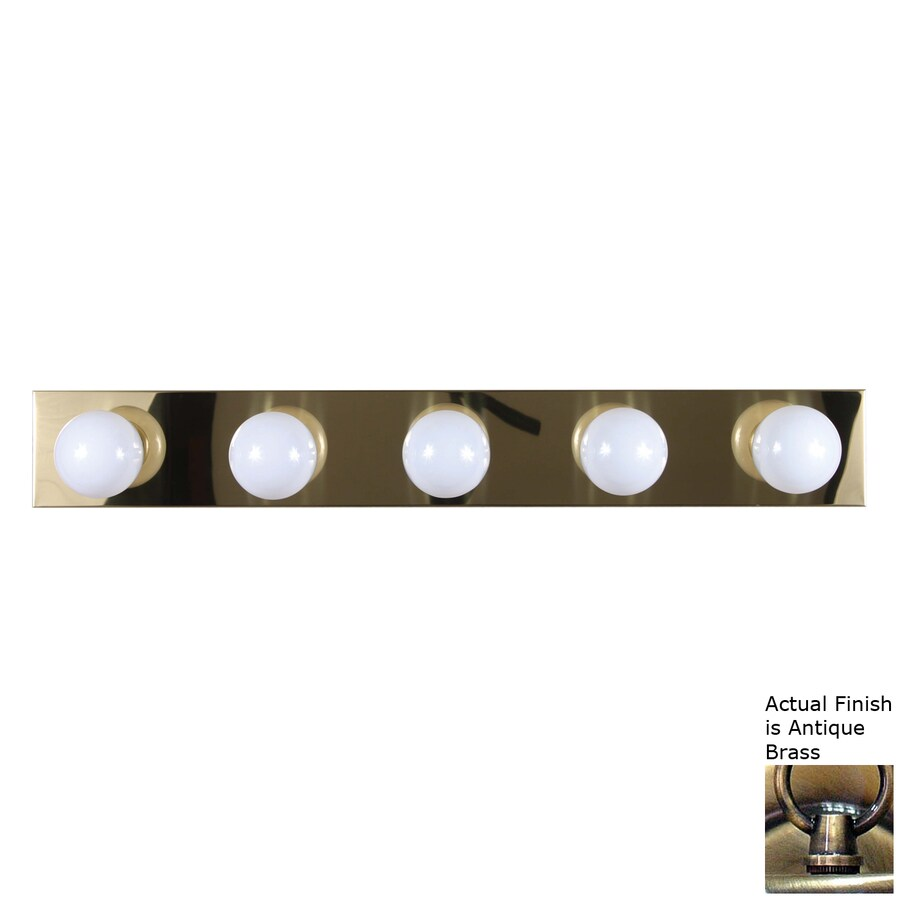 Volume International 5-Light 4.5-in Antique Brass Vanity Light Bar
