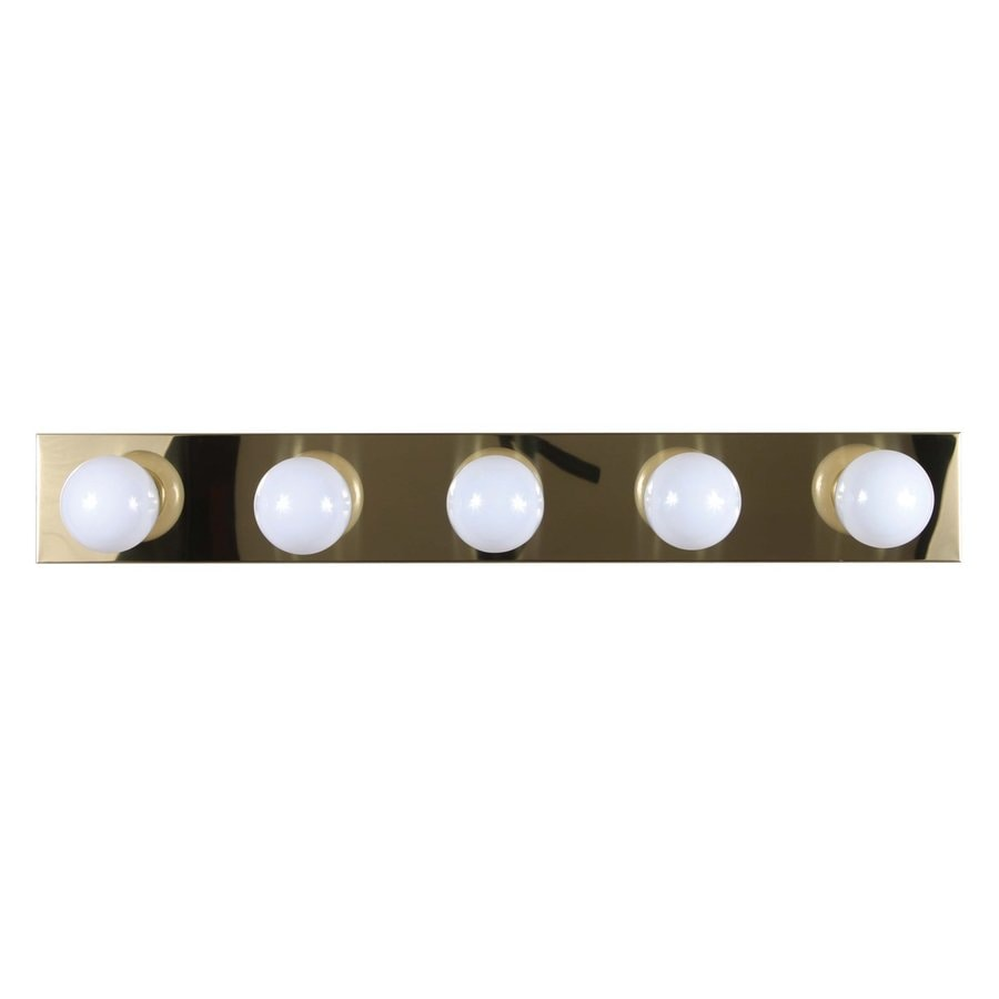 Volume International 5-Light 4.5-in Polished Brass Vanity Light Bar
