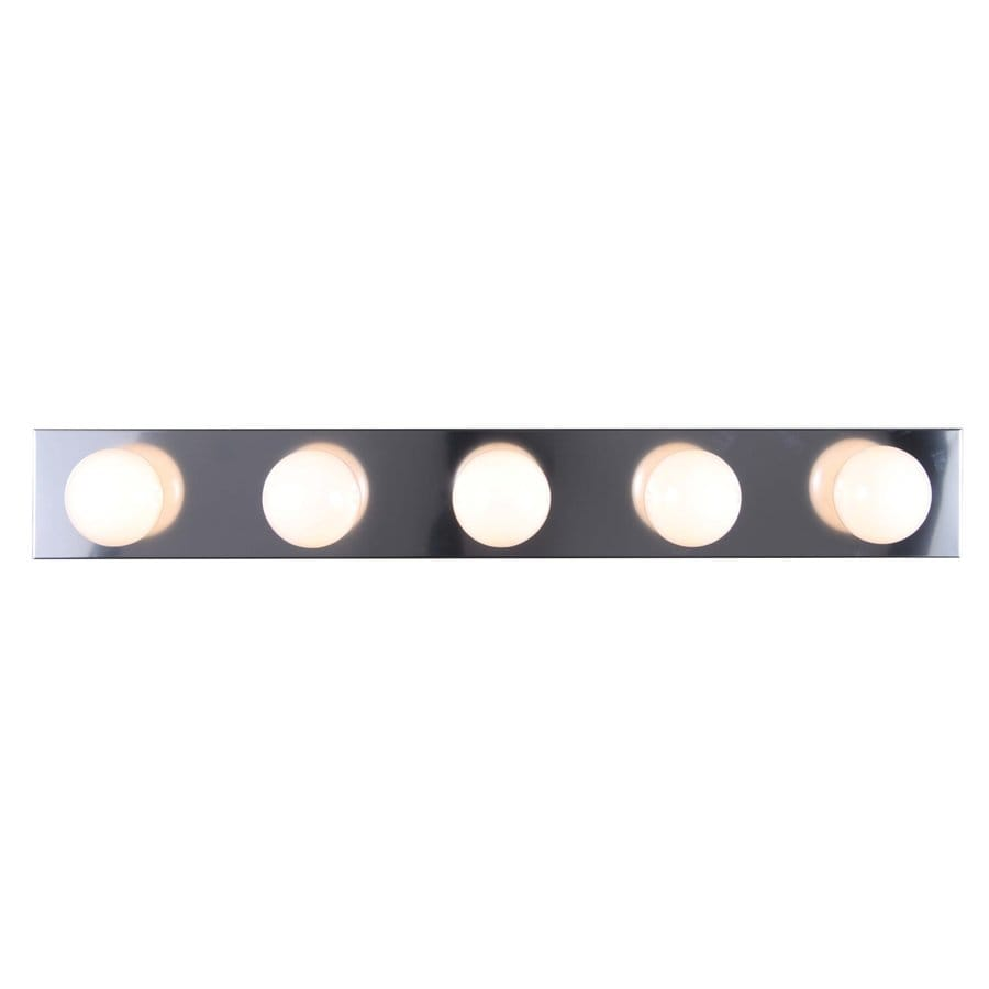 Volume International 5-Light 4.5-in Chrome Vanity Light Bar