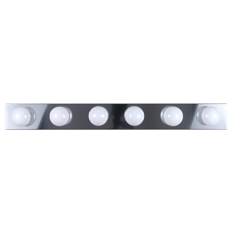 Vanity Light Bar Height : Shop Volume International 6-Light 4.5-in Chrome Vanity Light Bar at Lowes.com