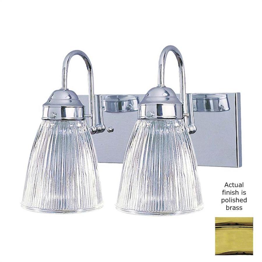 Volume International 2-Light 8.25-in Polished brass Vanity Light
