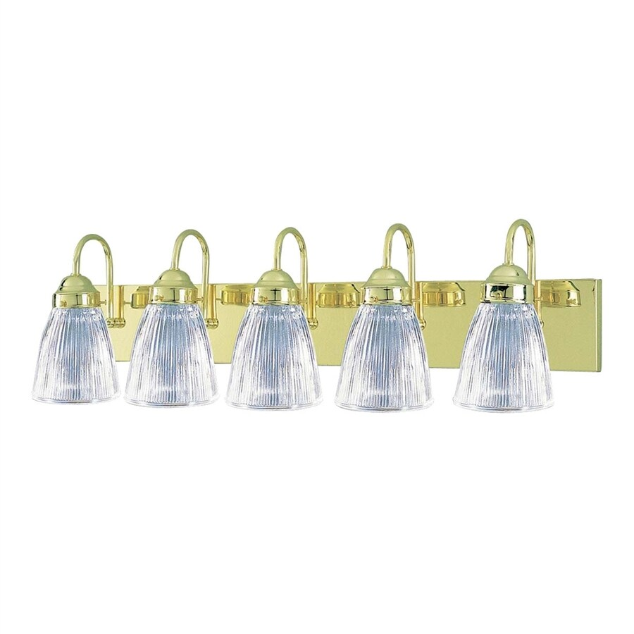Volume International 5-Light 8.25-in Polished Brass Bell Vanity Light