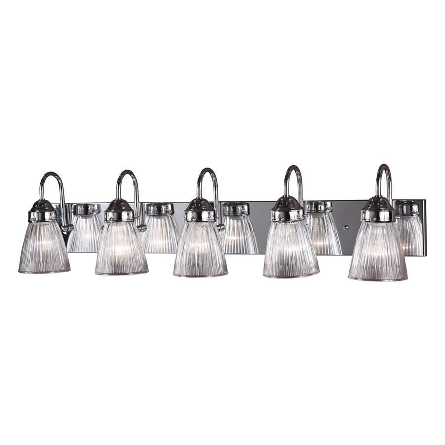 Volume International 5-Light 8.25-in Chrome Bell Vanity Light