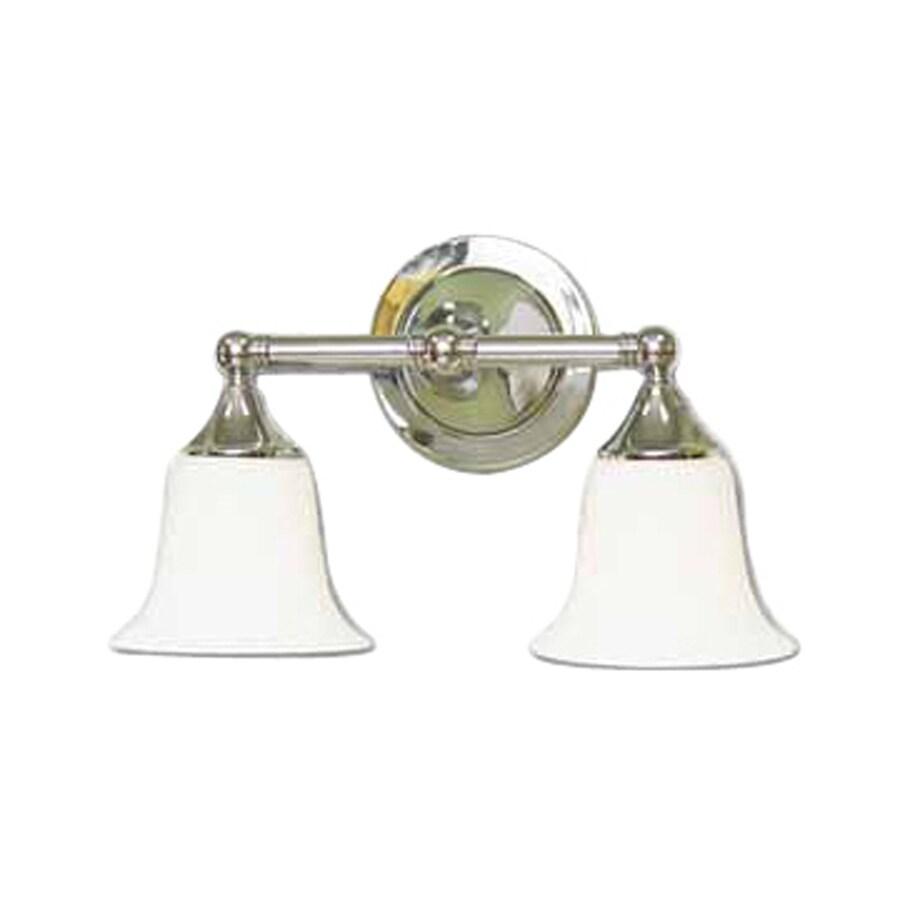 Volume International 2-Light 9.25-in Chrome Bell Vanity Light