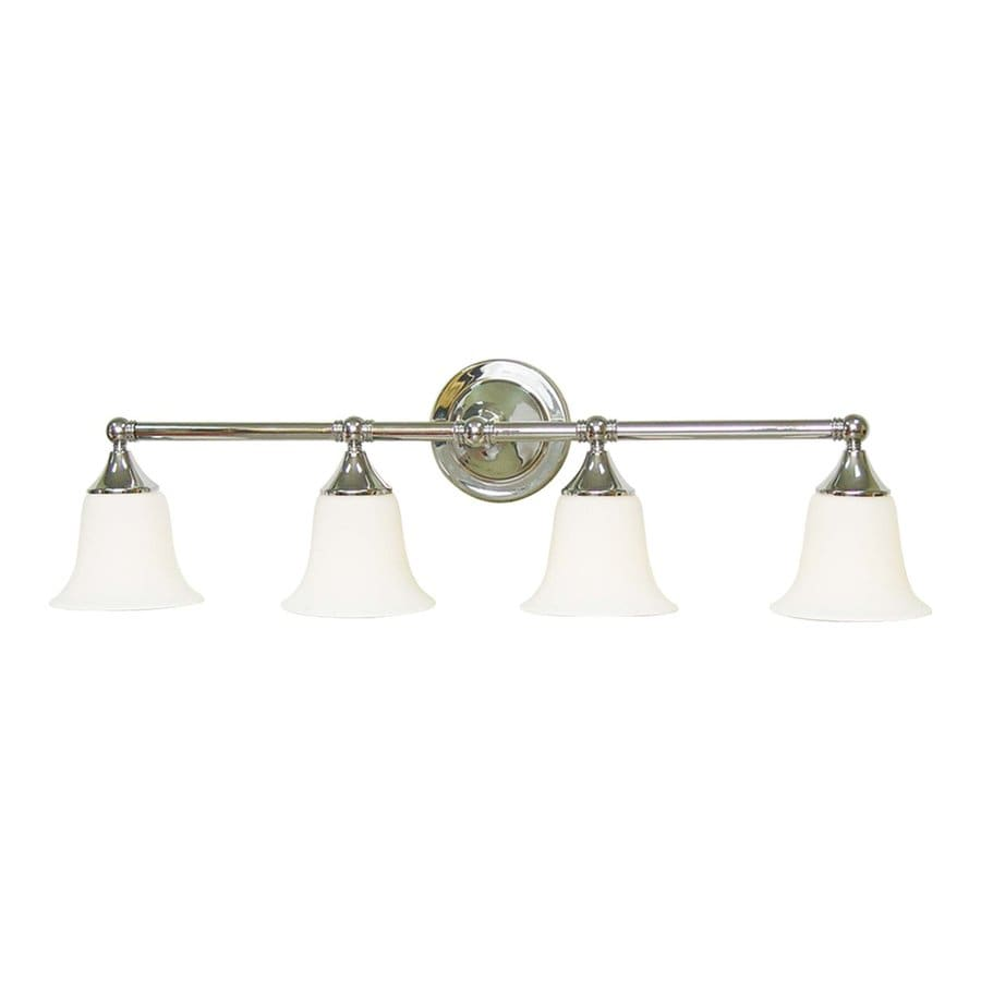 Volume International 4-Light 9.25-in Brushed Nickel Bell Vanity Light