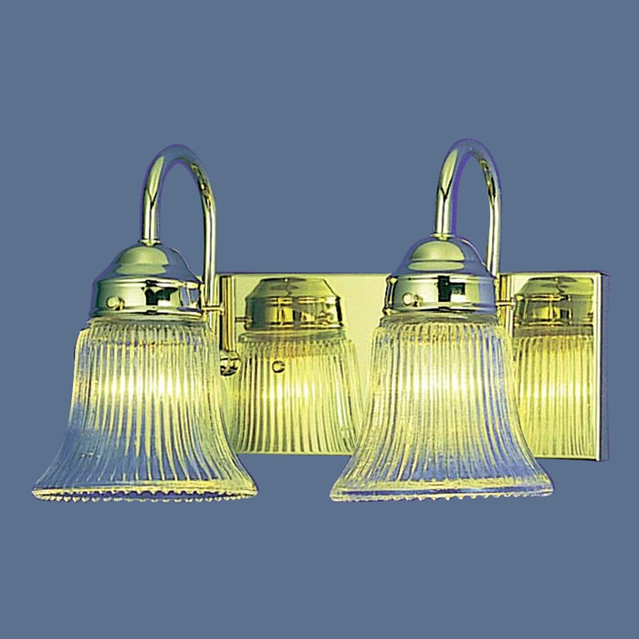 Vanity Lighting Polished Brass : Shop Volume International 2-Light 8-in Polished Brass Bell Vanity Light at Lowes.com