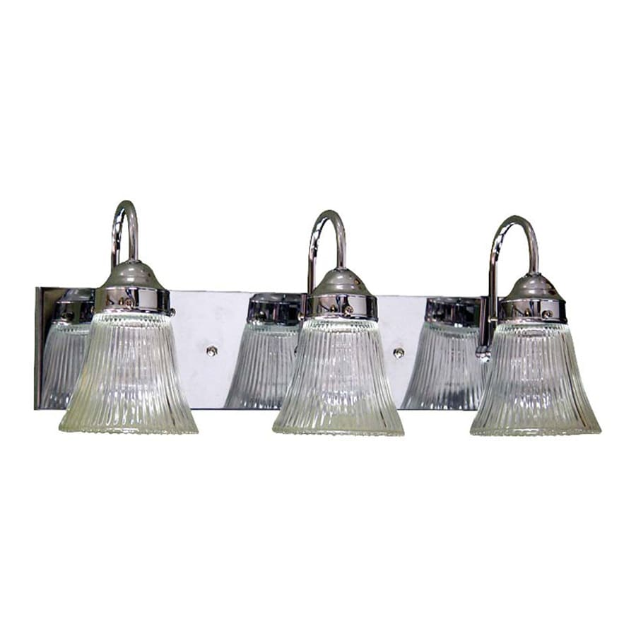 Volume International 3-Light 8-in Chrome Bell Vanity Light