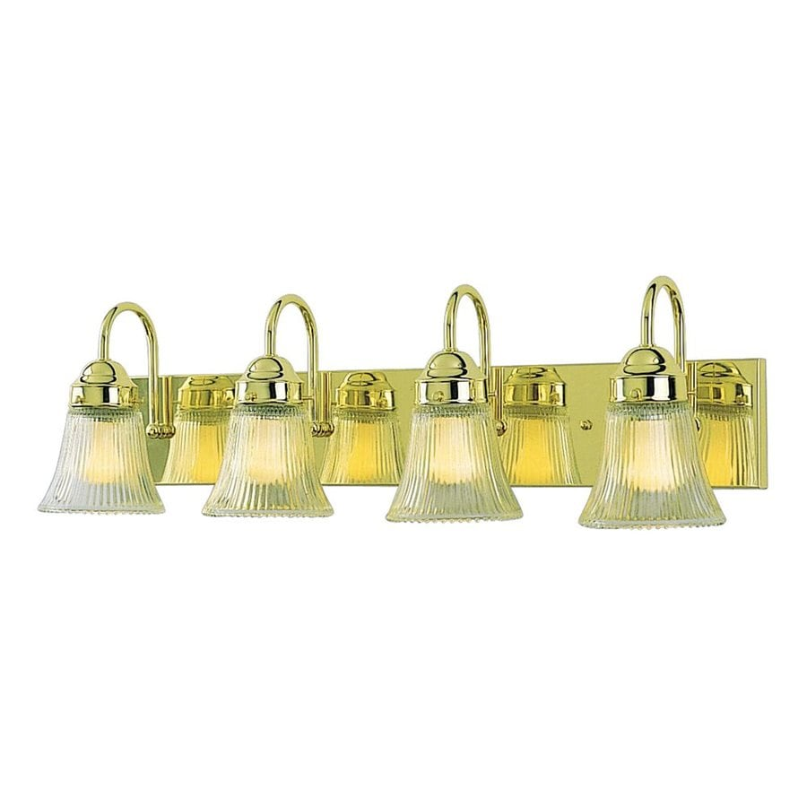 Volume International 4-Light 8-in Polished Brass Bell Vanity Light
