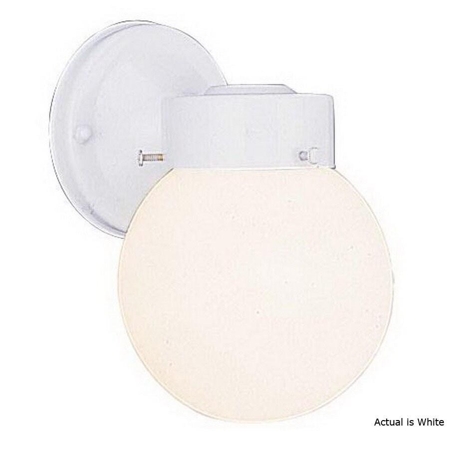 Volume International Globe 8-1/2-in White Outdoor Wall Light