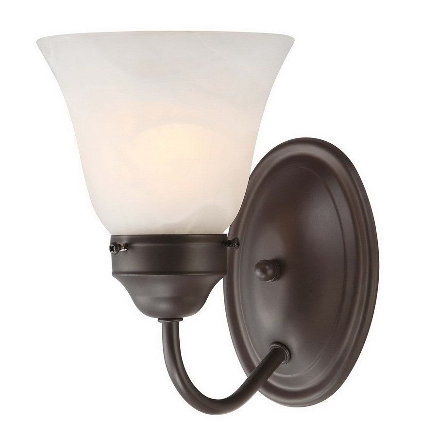 Volume International Barcelona 5.25-in W 1-Light Antique bronze Arm Wall Sconce