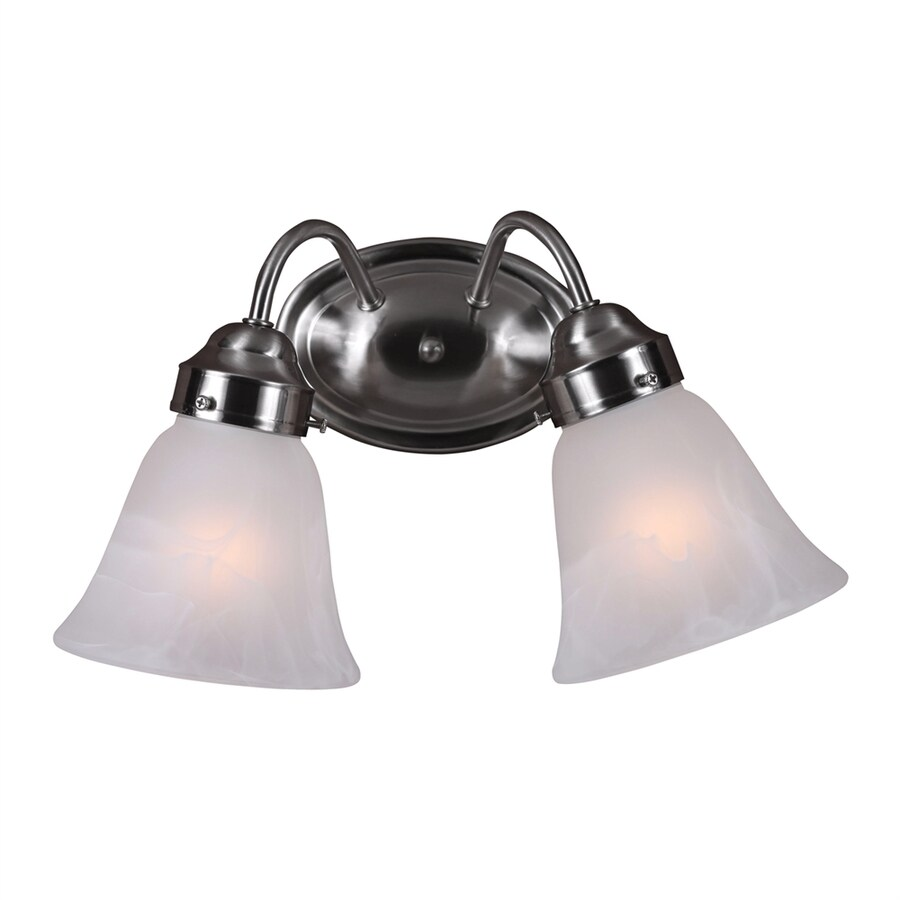 Volume International Barcelona 2-Light 8.25-in Brushed nickel Bell Vanity Light