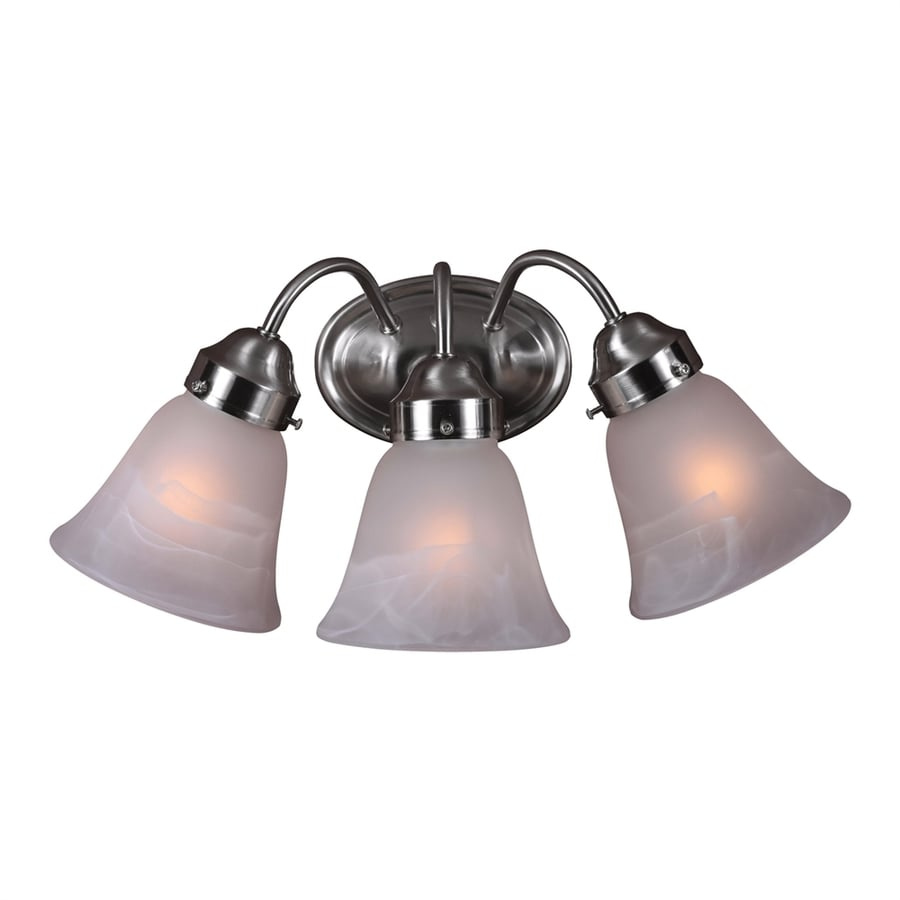Volume International Barcelona 3-Light 8-in Brushed Nickel Bell Vanity Light