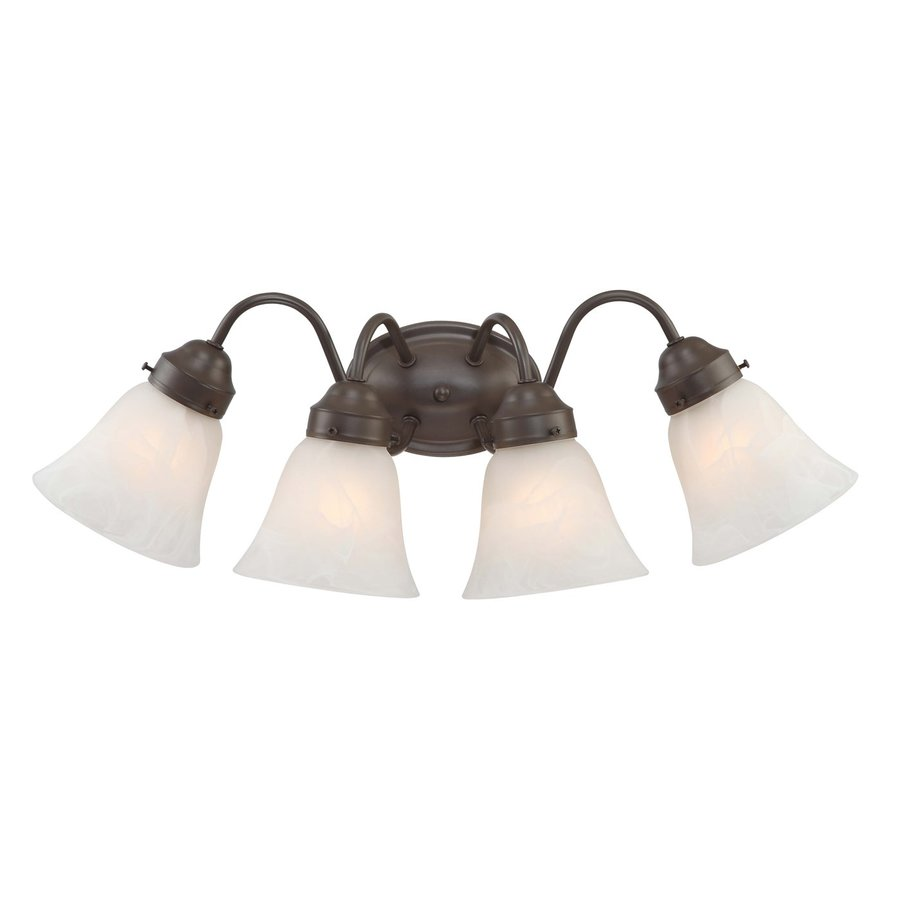 Volume International Barcelona 4-Light 9-in Antique Bronze Bell Vanity Light