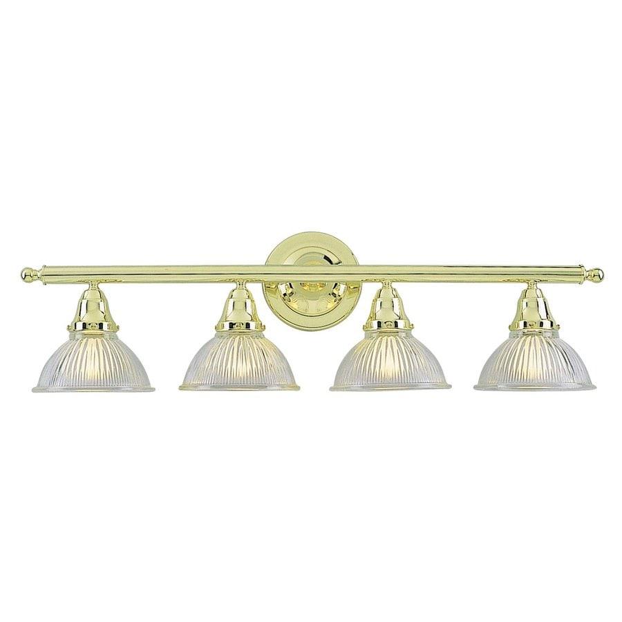 Volume International 4-Light 9.25-in Polished Brass Dome Vanity Light