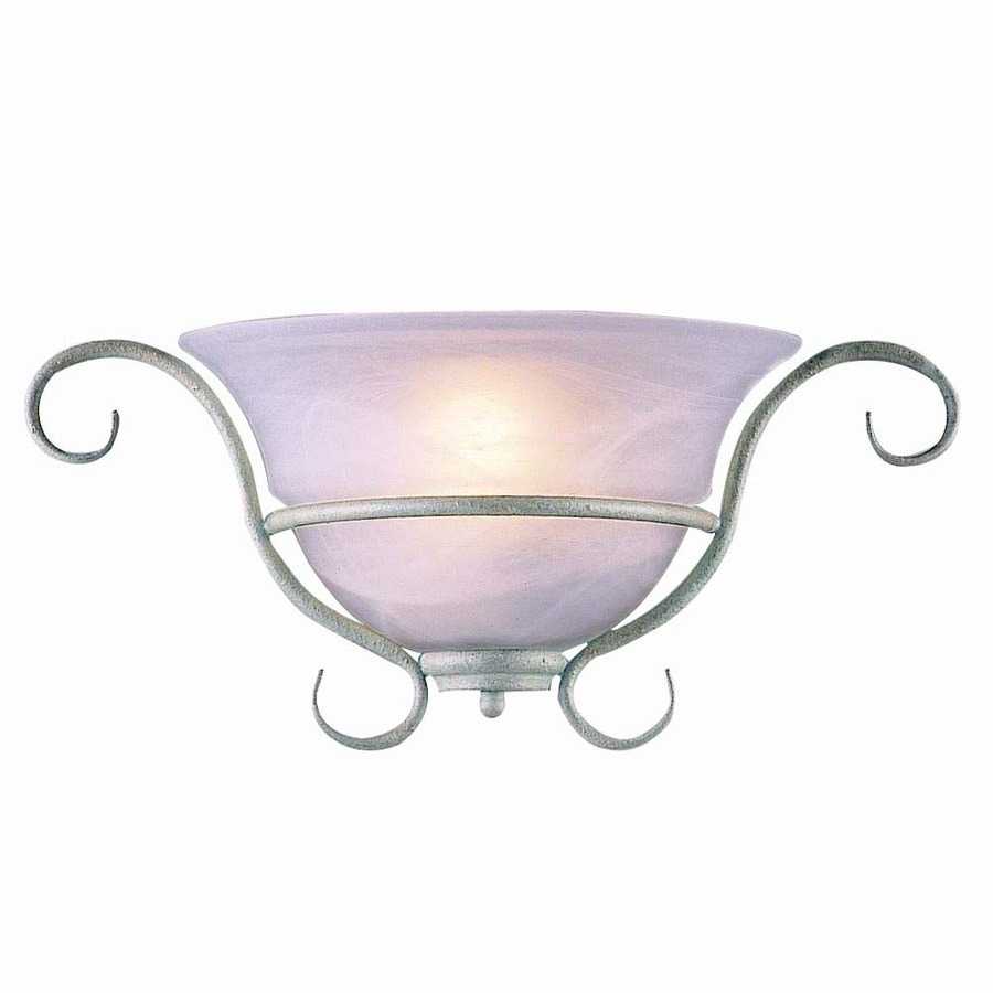 Volume International Toledo 17.5-in W 1-Light Platinum Rust Arm Hardwired Wall Sconce
