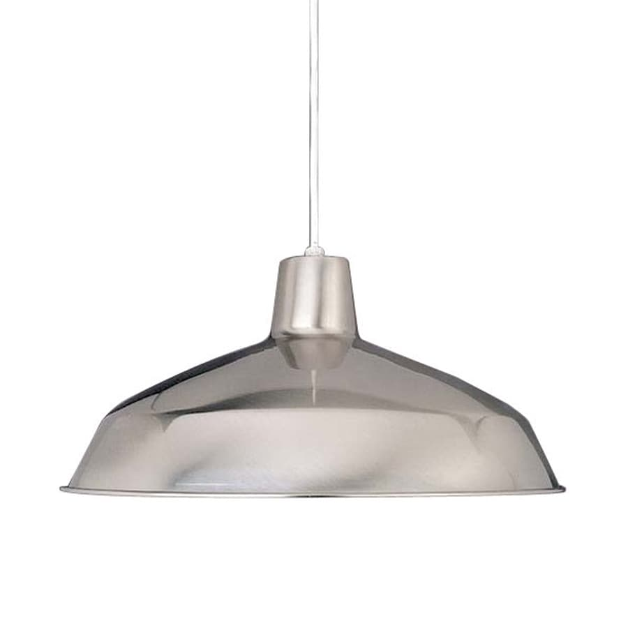 Volume International 15.75-in Brushed Nickel Barn Single Warehouse Pendant