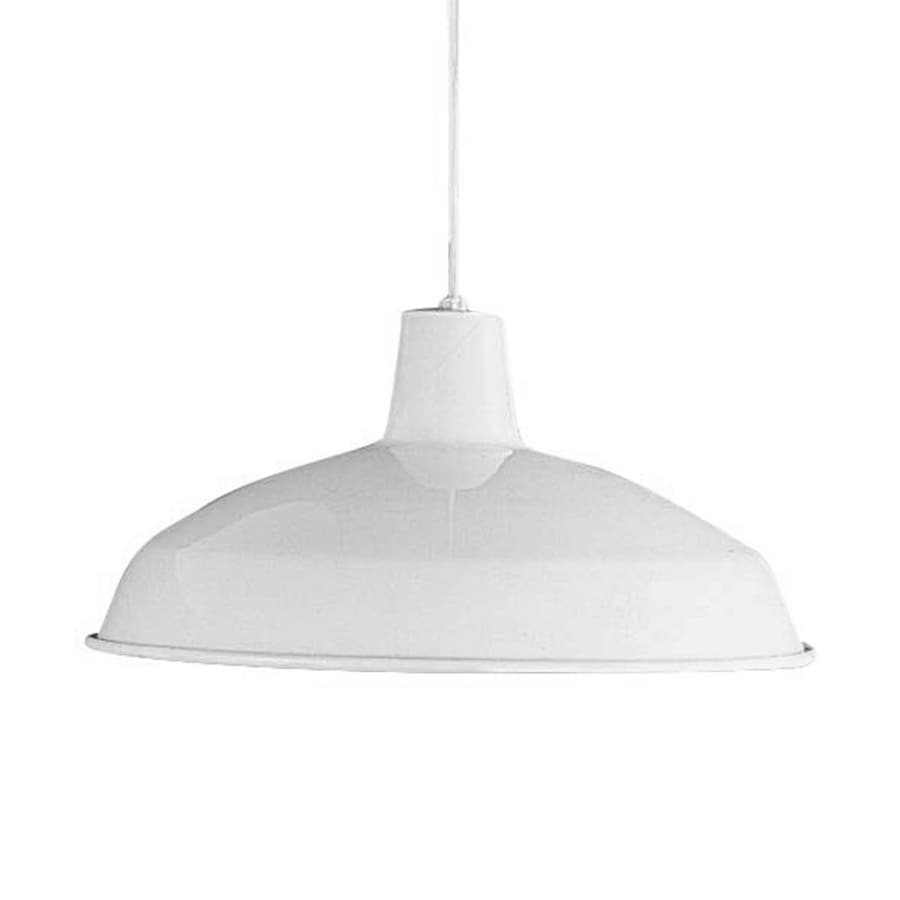 Volume International 15.75-in White Industrial Single Warehouse Pendant