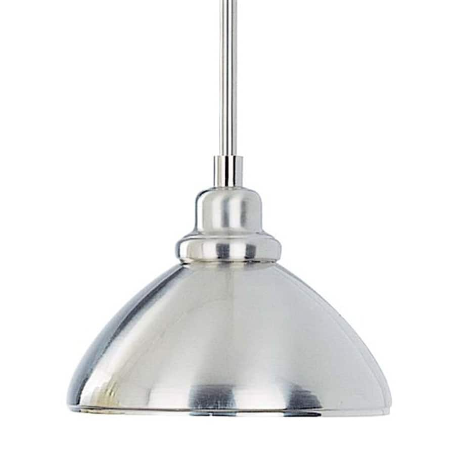 Volume International 8.25-in Brushed Nickel Industrial Mini Dome Pendant
