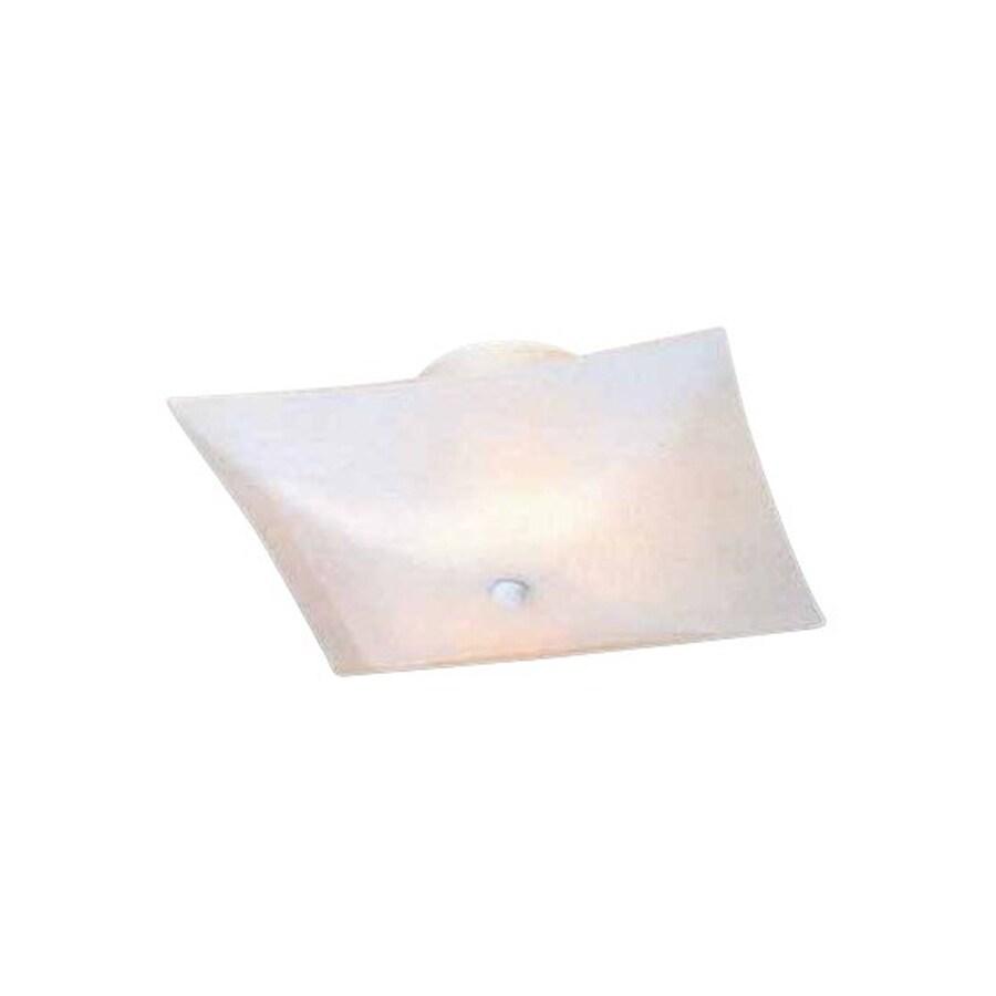Volume International 14-in W White Frosted Glass Semi-Flush Mount Light