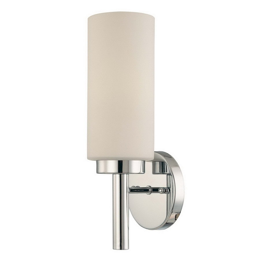 Volume International 5-in W 1-Light Chrome Arm Hardwired Wall Sconce