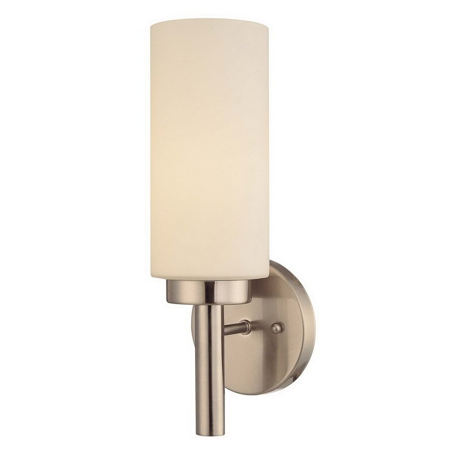Volume International 5-in W 1-Light Brushed Nickel Arm Hardwired Wall Sconce