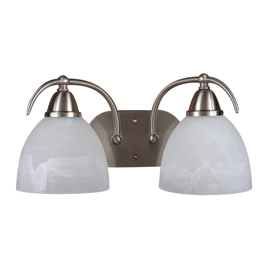 Volume International Kora 2-Light 8-in Brushed Nickel Dome Vanity Light
