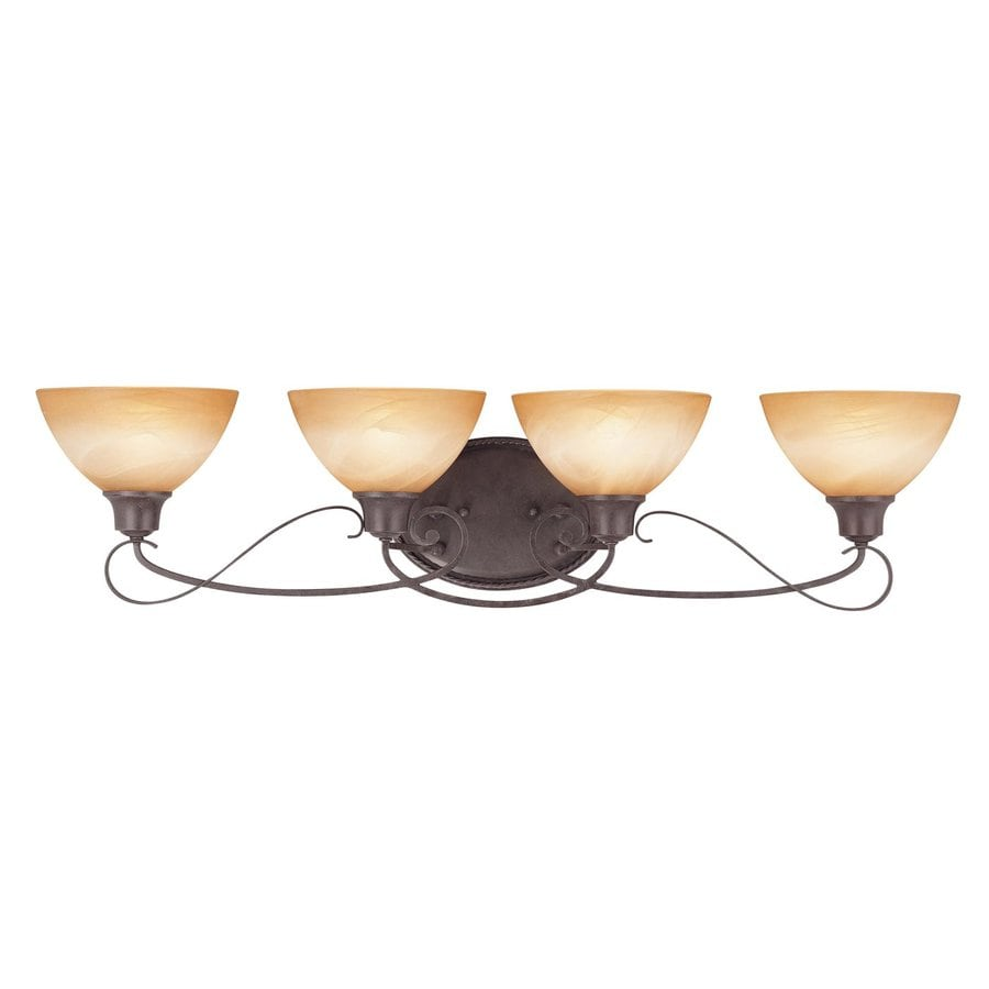 Volume International Altamonte 4-Light 8.25-in Frontier Iron Bowl Vanity Light
