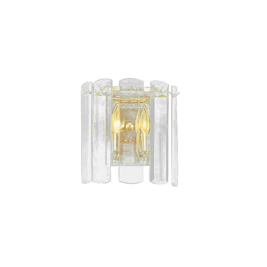 Volume International 9-in W 2-Light Polished Brass Arm Hardwired Wall Sconce