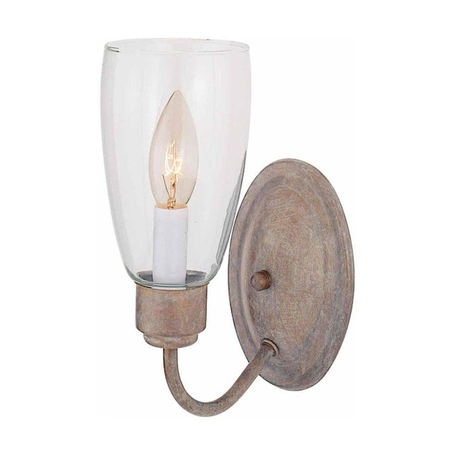 Volume International 4.25-in W 1-Light Prairie Rock Arm Hardwired Wall Sconce