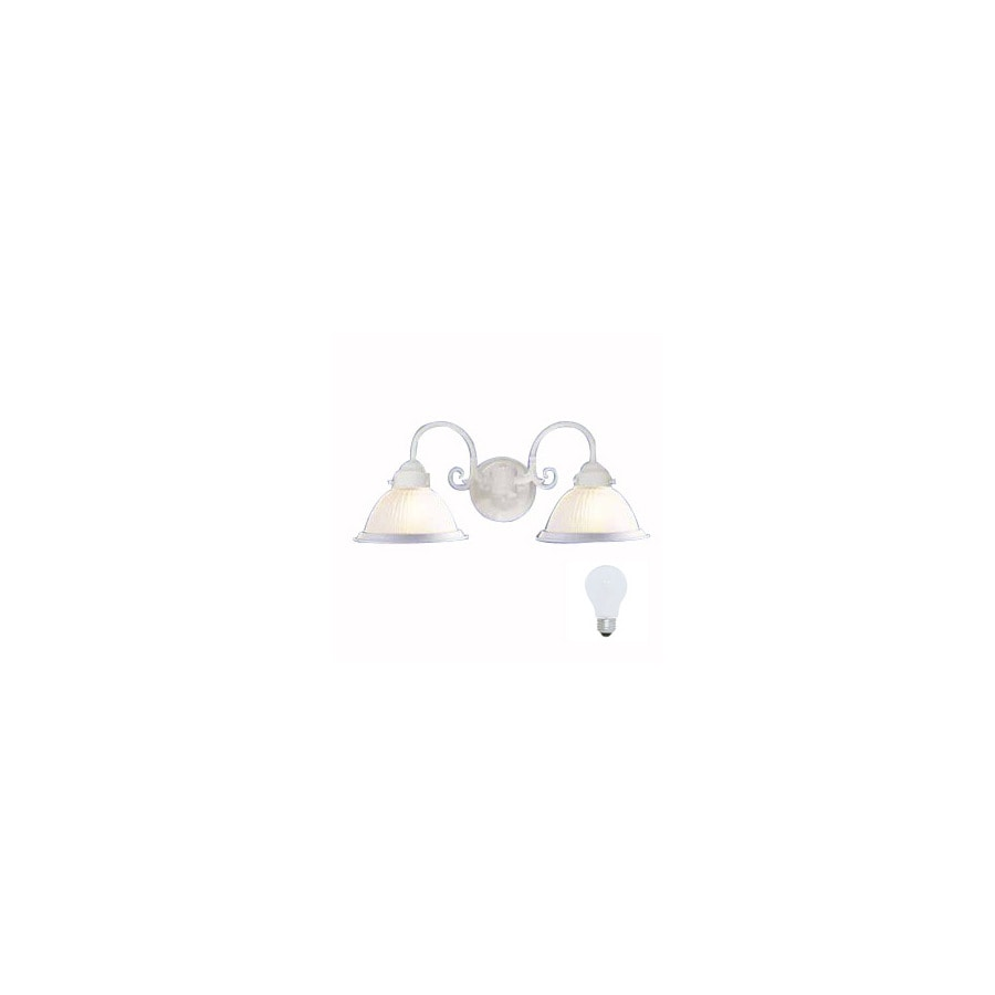 Volume International 21-in W 2-Light Textured White Arm Wall Sconce