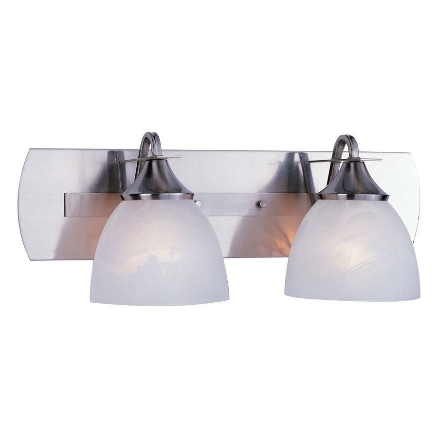 Volume International Durango 2-Light 8.25-in Brushed nickel Dome Vanity Light