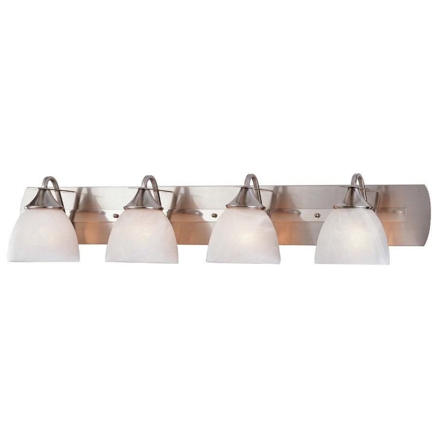 Volume International Durango 4-Light 8.25-in Brushed nickel Dome Vanity Light