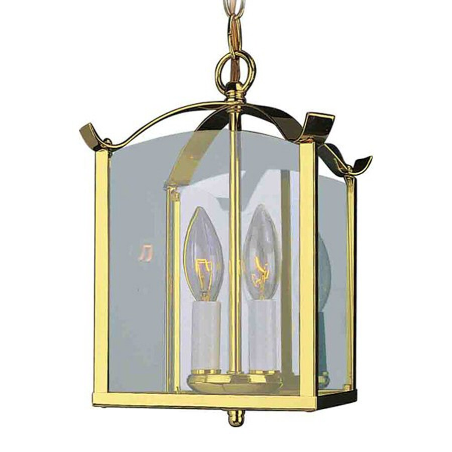 Foyer Pendant Lighting Lowes : Shop volume international foyer in w polished brass